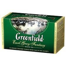 Чай Грінфілд Ерл Грей чорний з бергамотом 25 пак/уп
