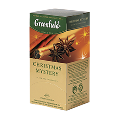 Чай Грінфілд Christmas Mystery чорний з корицею 25 пак/уп