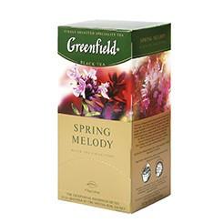 Чай Грінфілд Spring melody чорний з травами 25 пак/уп