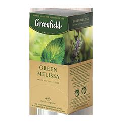 Чай Грінфілд Грін Меліса зелений з мелісою 25 пак/уп