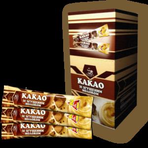 Какао зі згущеним молоком в стіках по 35г 25шт/уп