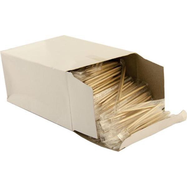 Зубочистки в індивідуальній поліетиленовій упаковці 1000шт/уп